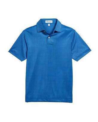 Peter Millar Boy's Stanbury Gingham Print Polo Shirt, Size XS-XL