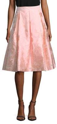Eliza J Floral Pleated Knee-Length Skirt