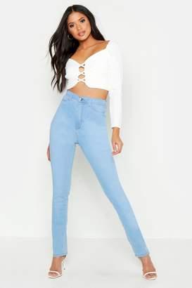 boohoo Tall High Waisted Power Stretch Skinny Jeans