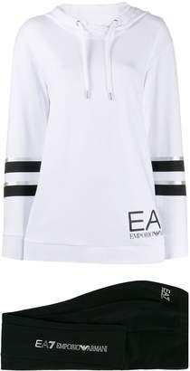 Emporio Armani Ea7 two tone hoodie