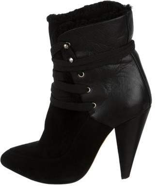 IRO Suede Lace-Up Ankle Boots Black Suede Lace-Up Ankle Boots