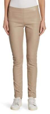 Celine Barbara Lohmann Leather Trousers
