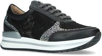 Roberto Cavalli Lace Low-Top Sneakers