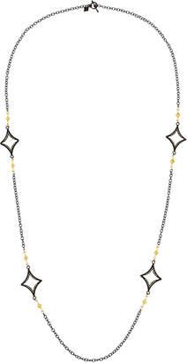 "Armenta Long Open Cravelli Station Necklace, 36"""