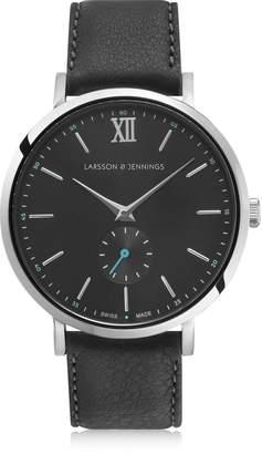 Larsson & Jennings Lugano Jura 38mm Silver & Charcoal Watch