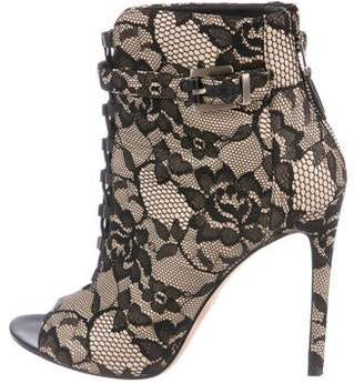 Brian Atwood Lace Ankle Booties