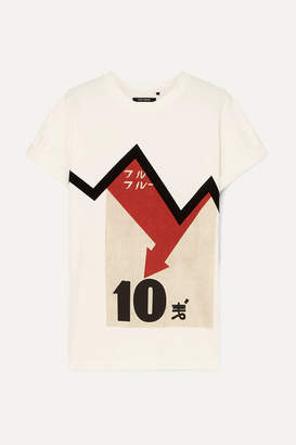 Isabel Marant Yates Oversized Flocked Printed Cotton-jersey T-shirt - White