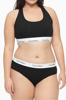 Calvin Klein Womens Black Modern Cotton Plus Bikini Brief - Black