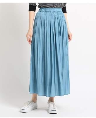 Dessin (デッサン) - Ladies [洗える][Lサイズあり]パウダーサテンギャザーロングスカート