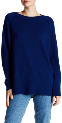 Kinross Exposed Seam Hi-Lo Cashmere Sweater $114.97 thestylecure.com