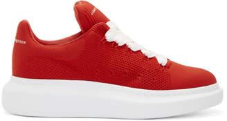 Alexander McQueen Red Knit Oversized Sneakers