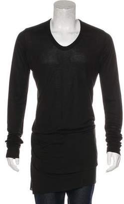 Rick Owens Longline Long Sleeve T-Shirt