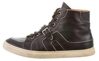 Hermes Round-Toe High-Top Sneakers