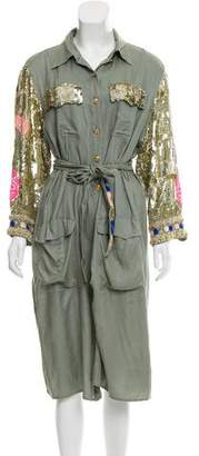 Loyd/Ford Sequin Embellished Safari Jacket