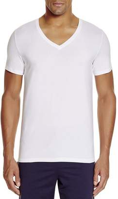 Hanro Stretch Cotton Superior V-Neck Short Sleeve Shirt