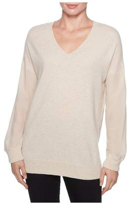 Magaschoni Long Sleeve Silk Pullover