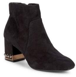 Anne Klein Walena Suede Ankle Boots