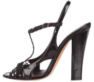 Nina Ricci Leather T-Strap Sandals