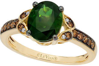 LeVian Le Vian 14K 1.77 Ct. Tw. Diamond & Green Tourmaline Ring