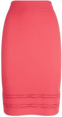 D-Exterior D.Exterior Stripe Hem Pencil Skirt