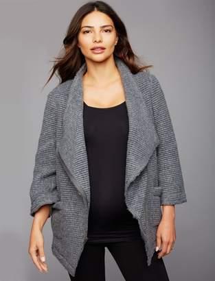 BB Dakota Drape Front Cable Knit Maternity Jacket