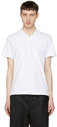 Thom Browne White Relaxed Fit Polo