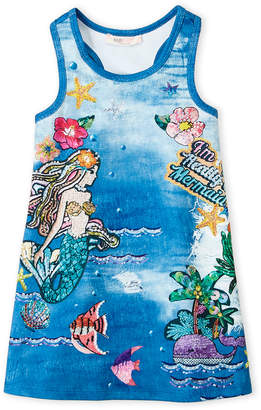 Baby Sara Girls 4-6x) Studded Mermaid A-Line Dress