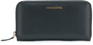 DSQUARED2 zip around logo wallet