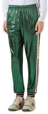 Gucci Oversize Laminated Jersey Jogging Pant