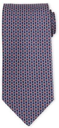 Salvatore Ferragamo Interlocking Gancini-Print Silk Tie $190 thestylecure.com