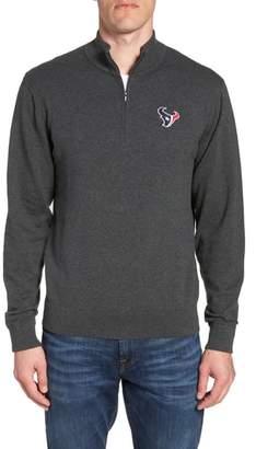 Cutter & Buck Houston Texans - Lakemont Regular Fit Quarter Zip Sweater