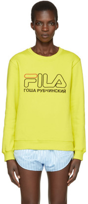 Gosha Rubchinskiy Green Fila Edition Pullover $130 thestylecure.com