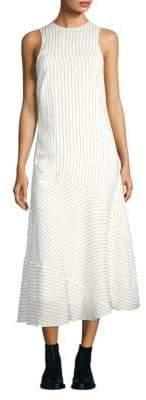 Ganni Wilkie Striped Seersucker Dress