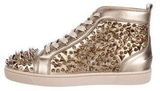 Christian Louboutin 2018 Louis Pik Pik Metallic Sneakers w/ Tags