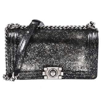 Chanel Boy Silver Patent leather Handbags