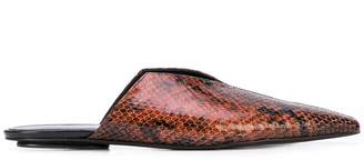 Rosetta Getty snakeskin effect mules