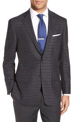Men's Hart Schaffner Marx Classic Fit Check Wool Sport Coat $495 thestylecure.com