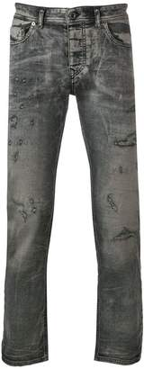 Diesel Black Gold cloudy finish slim jeans