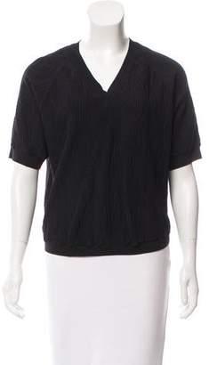 3.1 Phillip Lim Textured Knit Short Sleeve Top