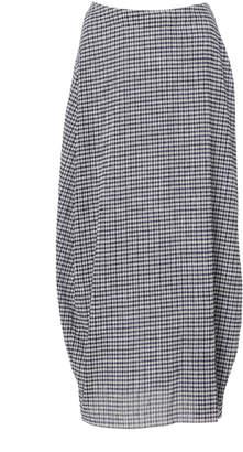 Jil Sander Checked Draped Midi Skirt