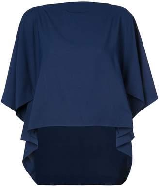 Issey Miyake 132 5. draped short-sleeved blouse