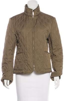 Burberry Quilted Zip-Up Jacket