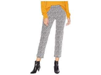 MICHAEL Michael Kors Plaid Cigarette Crop Pants Women's Casual Pants