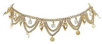 Scalloped Rhinestone Choker Necklace $6 thestylecure.com