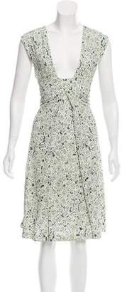 Tory Burch Sleeveless Printed Midi Dress w/ Tags
