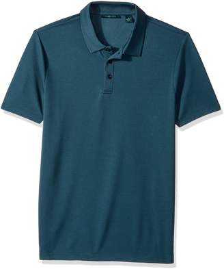 Perry Ellis Men's Solid Ottoman 3 Button Polo Shirt