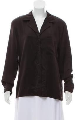 Calvin Klein Collection Silk Long Sleeve Blouse