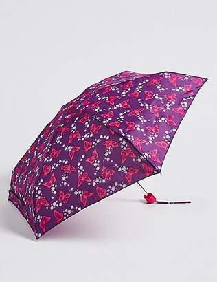 M&S Collection Butterfly Print Compact Umbrella with StormwearTM