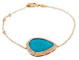Djula 18K Turquoise & Diamond Magic Stone Bracelet