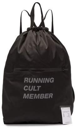 Satisfy The Gym Bag Printed Backpack - Mens - Black